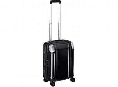 Zero Halliburton Polycarbonate Zipped Carry on 4 Wheel Spinner Travel Case black