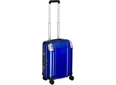 Zero Halliburton Polycarbonate Zipped Carry on 4 Wheel Spinner Travel Case blue