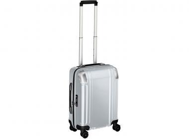 Zero Halliburton Polycarbonate Zipped Carry on 4 Wheel Spinner Travel Case silver