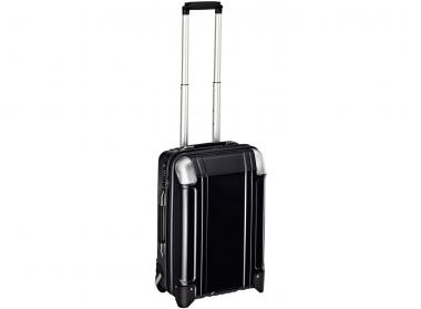 Zero Halliburton Polycarbonate Zipped Carry on 2 Wheel Travel Case Black
