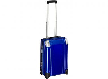 Zero Halliburton Polycarbonate Zipped Carry on 2 Wheel Travel Case Blue