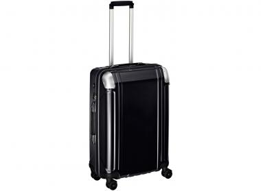 Zero Halliburton Polycarbonate Zipped 4 Wheel Spinner Travel Case 24 Zoll black