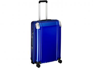 Zero Halliburton Polycarbonate  zipped 4 Wheel Spinner Travel Case 26 Zoll Blue