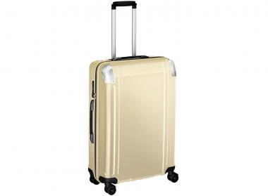 Zero Halliburton Polycarbonate  zipped 4 Wheel Spinner Travel Case 26 Zoll Gold