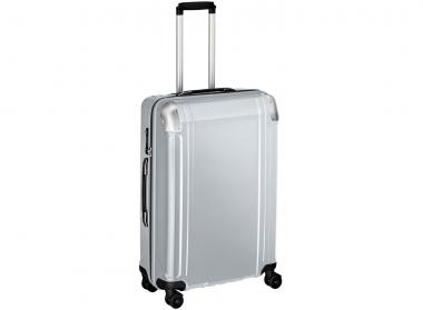 Zero Halliburton Polycarbonate  zipped 4 Wheel Spinner Travel Case 26 Zoll Silver