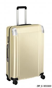 Zero Halliburton Polycarbonate Zipped 4 Wheel Spinner Travel Case 28 Zoll gold