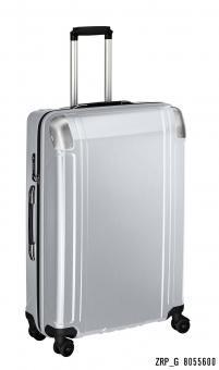 Zero Halliburton Polycarbonate Zipped 4 Wheel Spinner Travel Case 28 Zoll silver