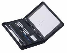 Leder-Schreibmappe 2685 schwarz