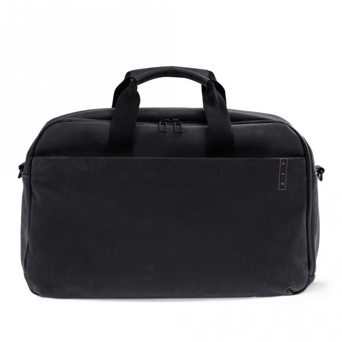 *Sleek* Leather Business Work Bag mit Laptopfach Charcoal Black