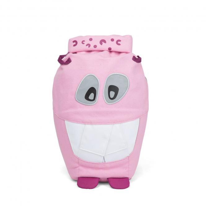 Großer Kindergartenrucksack aus Bio-Baumwolle Mighty Monster Pink