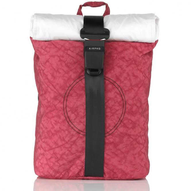 Rolltop-Rucksack mit Laptopfach Rosa