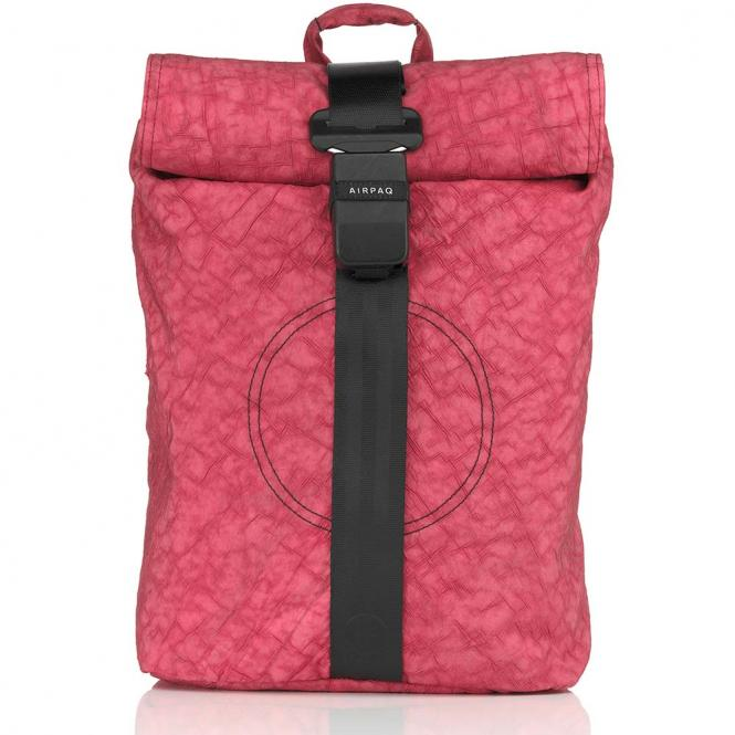 Rolltop-Rucksack mit Laptopfach Rosa Uni