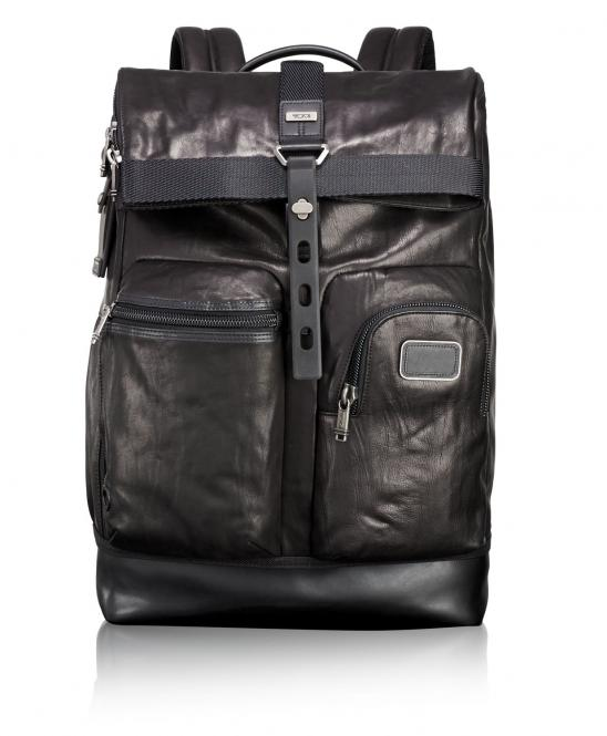 Luke Roll-Top Rucksack black