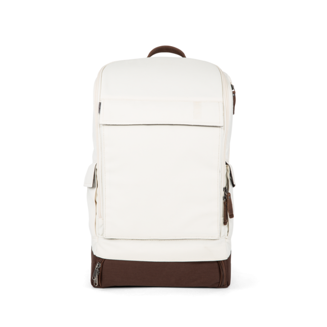 Classic Essential Backpack mit Laptopfach Creme White