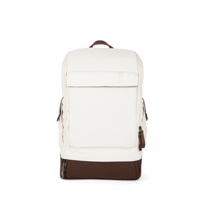 Small Essential Backpack mit Laptopfach Creme White