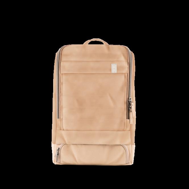 Small Leather Special Lederrucksack mit Laptopfach Solid Ecru
