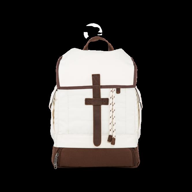 Essential Topdown Rucksack mit Laptopfach Creme White