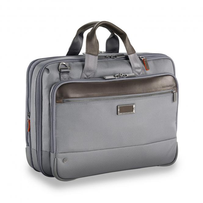 "Medium Expandable Brief 15.6"" grey"