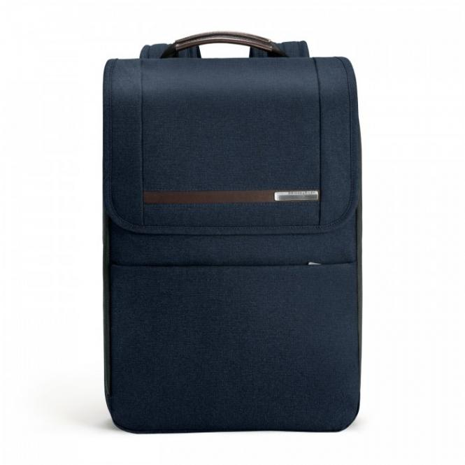 "Flapover Expandable Backpack mit Laptopfach 15.6"" Navy Blue"