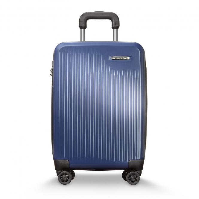 International Carry-On Expandable 4-Rollen-Trolley Marine Blue