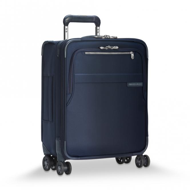 International Carry-On Expandable Wide-body Spinner Navy Blue