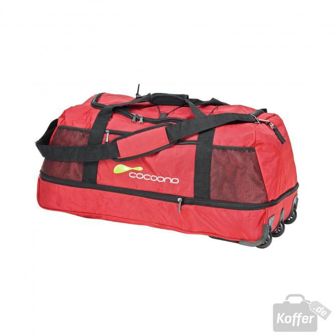 Reisetasche XL zusammenrollbar rot