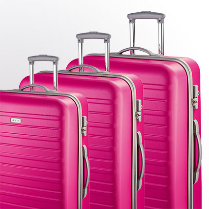 Trolley-Set 9400 4R, 3-tlg. S/M/L pink