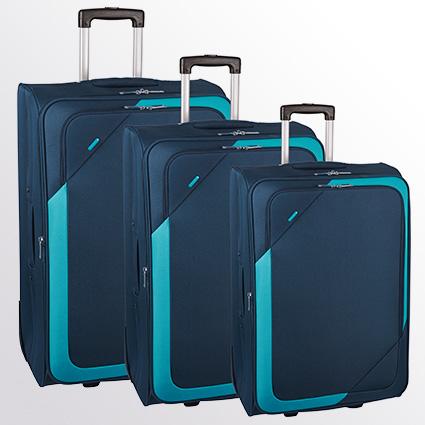 Trolley-Set 7200 2R, erweiterbar, 3-tlg. S/M/L dunkelblau