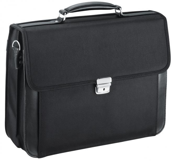 Aktentasche mit Laptopfach- 5662 schwarz