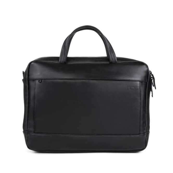 Classic Leather Special Leather Work Bag mit Laptopfach Pitch Black