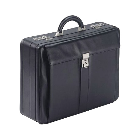 Leder Fächerkoffer 1245A schwarz
