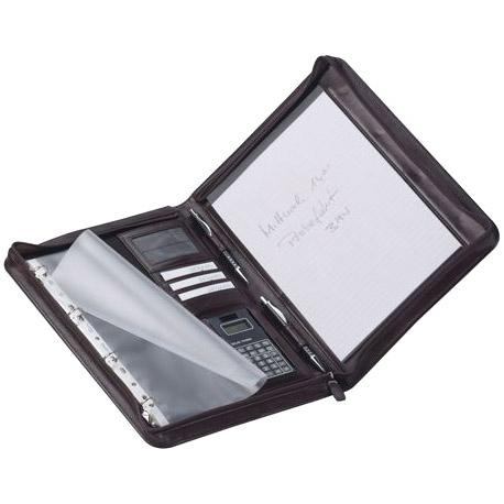 Leder-Schreibmappe 2684 schwarz