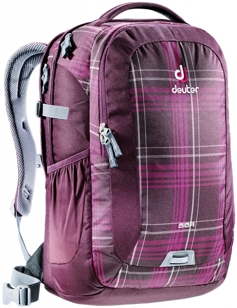 "Rucksack School & Daypack 15,6"" aubergine check"