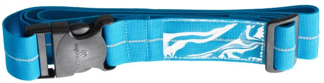 Reflective Luggage Strap brilliant blue