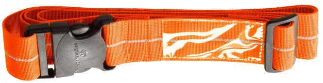 Reflective Luggage Strap flame orange