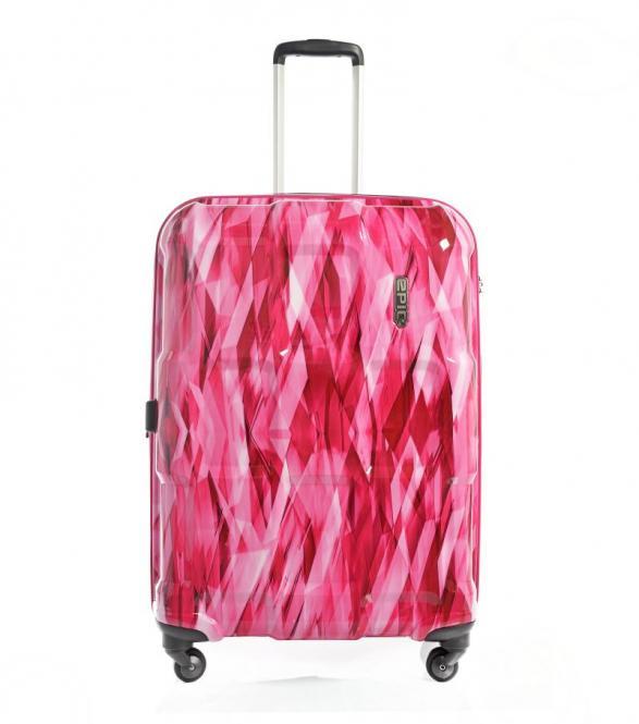 Trolley L 76cm 4w Expandable diamond Pink