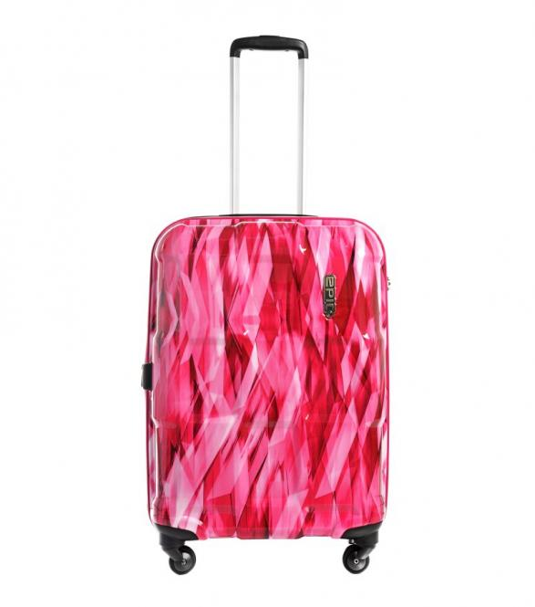 Trolley M 66cm 4w Expandable diamond Pink