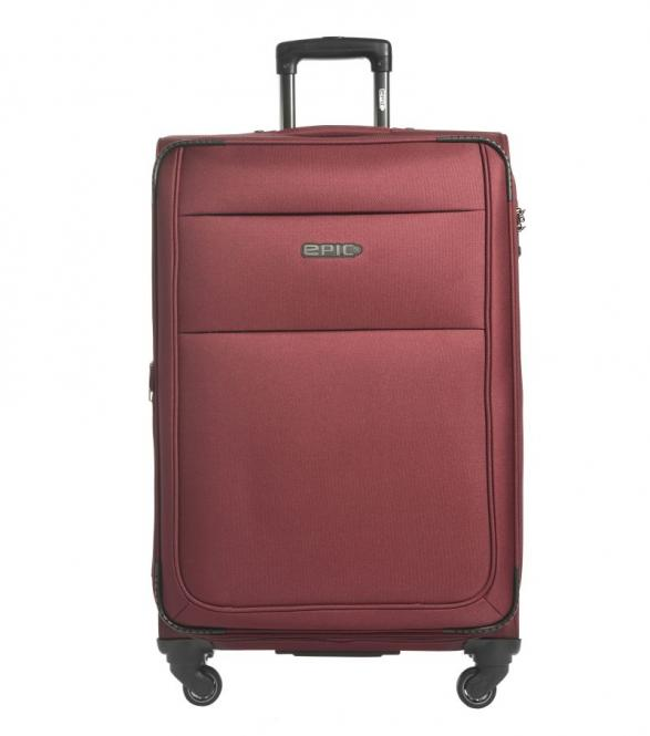 77cm Trolley 4w burgundy RED
