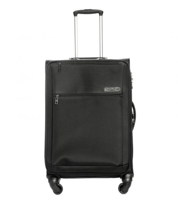 Trolley 67cm 4w exp black
