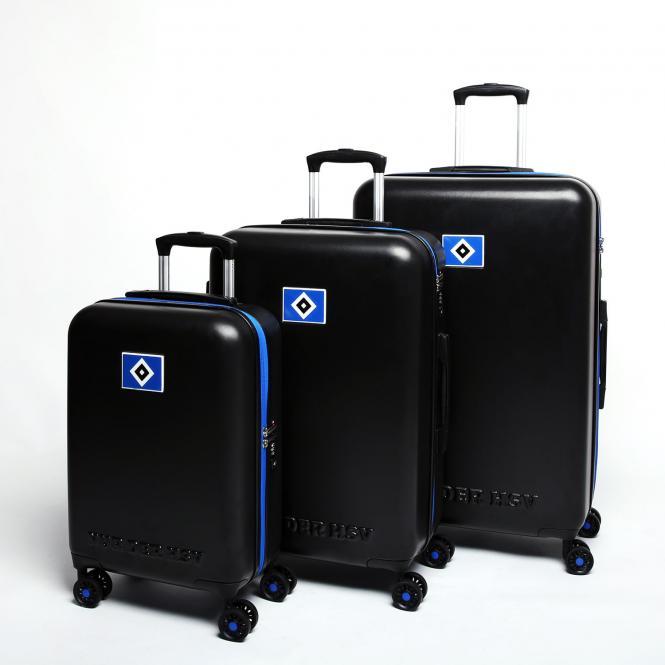 4-Rollen Trolley Koffer-Set S/M/L schwarz