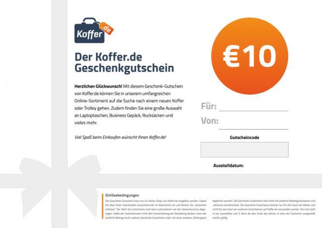 €10 Geschenkgutschein Allgemein