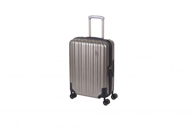 Cabin Trolley S 4R 55cm metallic grey brushed