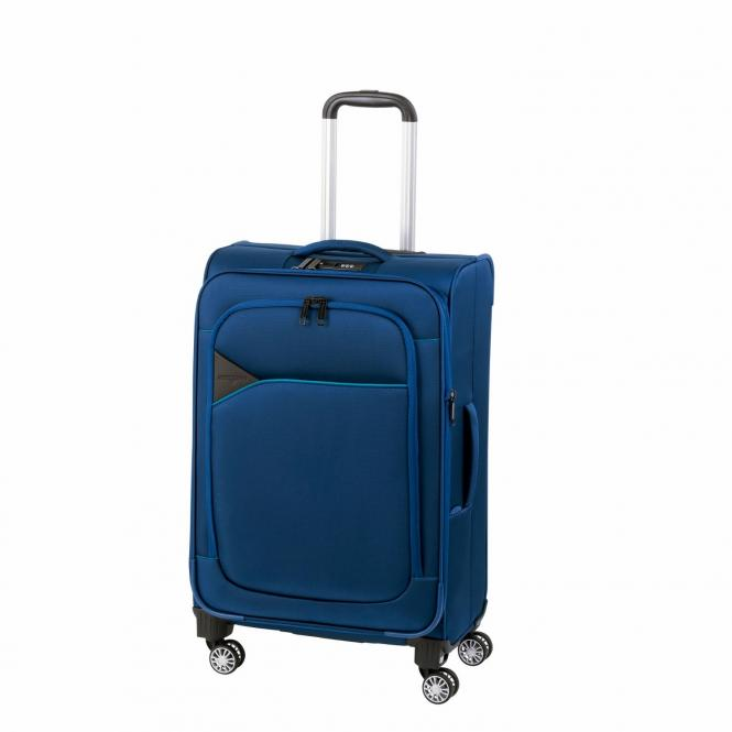 Trolley M 4R 68cm erweiterbar blue/light blue