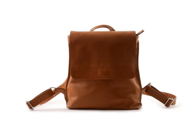Backpack small Cognac