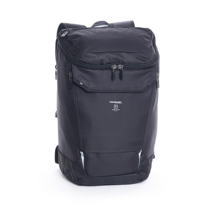 "Bond Large Backpack with Rain Cover 15.6"" Black"