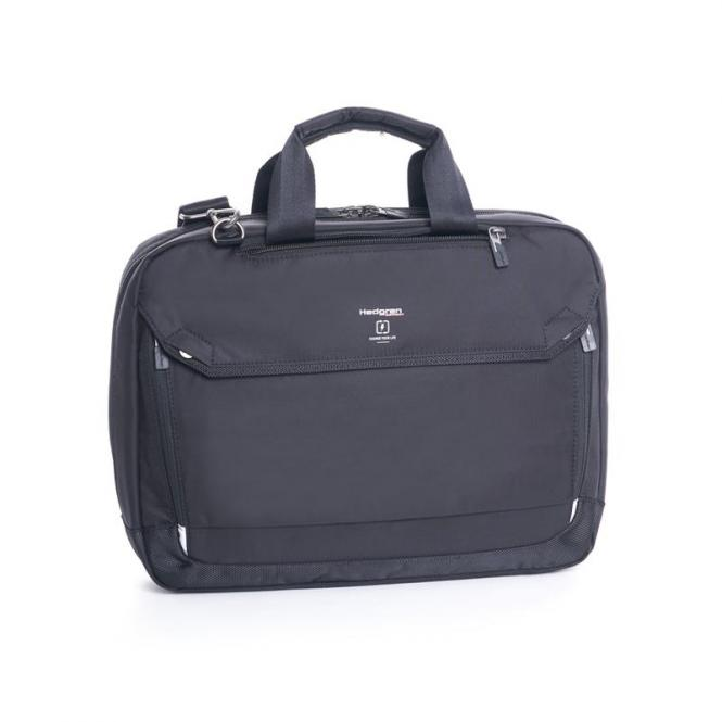 "Hitch Slim 3-Way Briefcase 15"" Black"