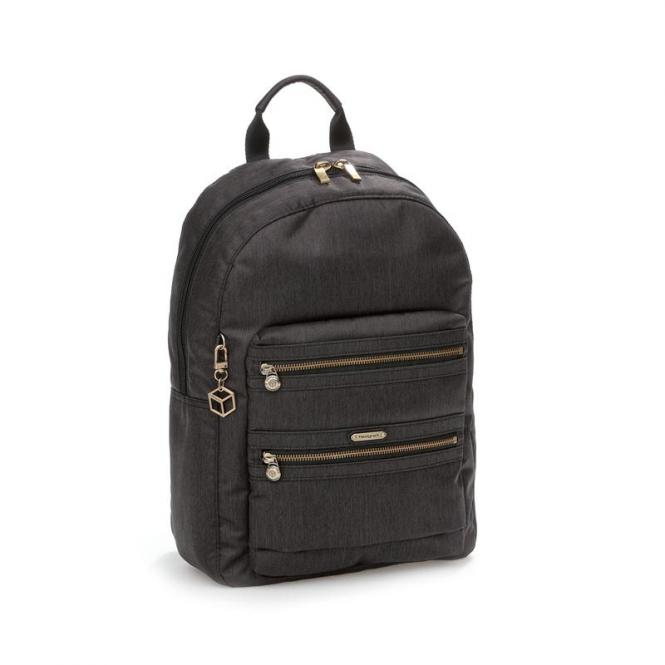 GALIA Backpack 2 Zippers jet black