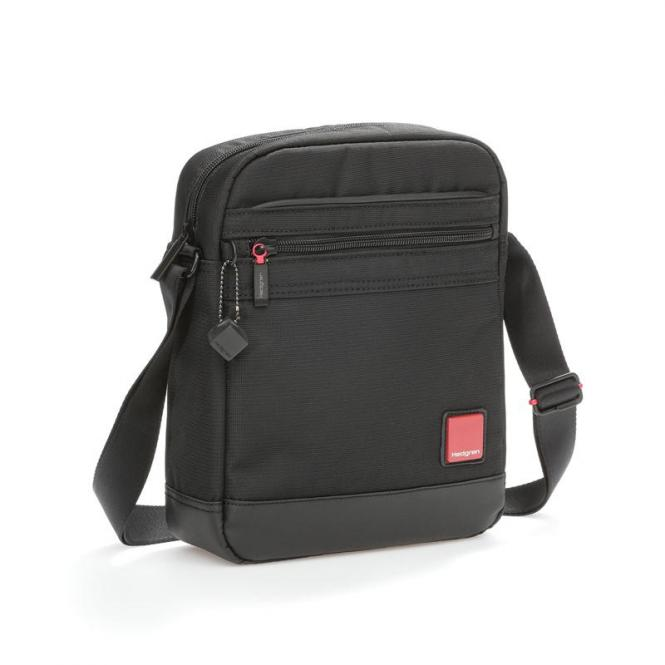 "DESCENT Vertical Shoulder Bag mit Tabletfach 9"" Black"