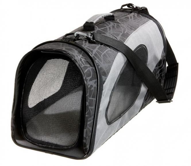 Faltbare Transporttasche L für Katzen und kleine Hunde Schwarz