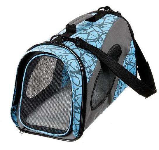 Faltbare Transporttasche L für Katzen und kleine Hunde Blau